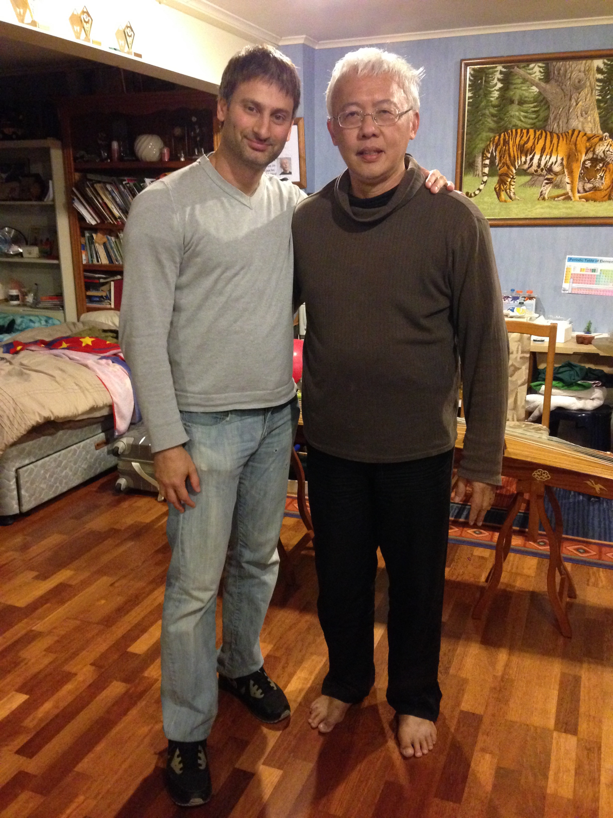 With Sifu Wee Kee Jin at his house in Auckland New Zealand