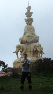 Practicing the 1700's SLT set at the top of Emei mountain