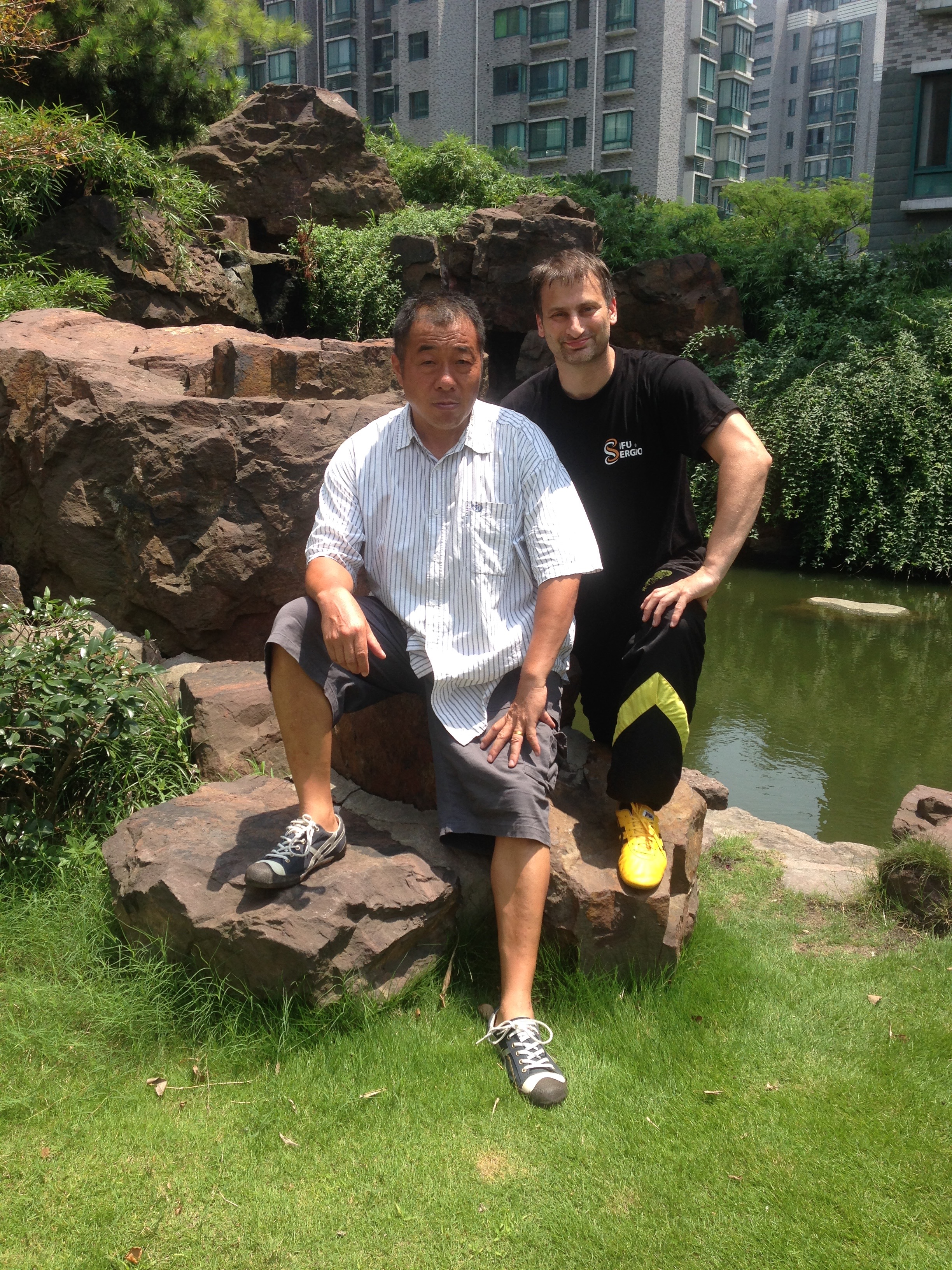 With Sifu Tian Bing yuan