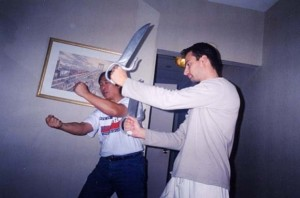 TRAINING THE BART CHAM DAO WITH SIFU ALLAN FONG WAI HUNG USA NEW YORK 2001