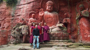 With some of the monks in Emei