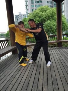 Tui Shou practice with Sifu Tian Bing Yuan