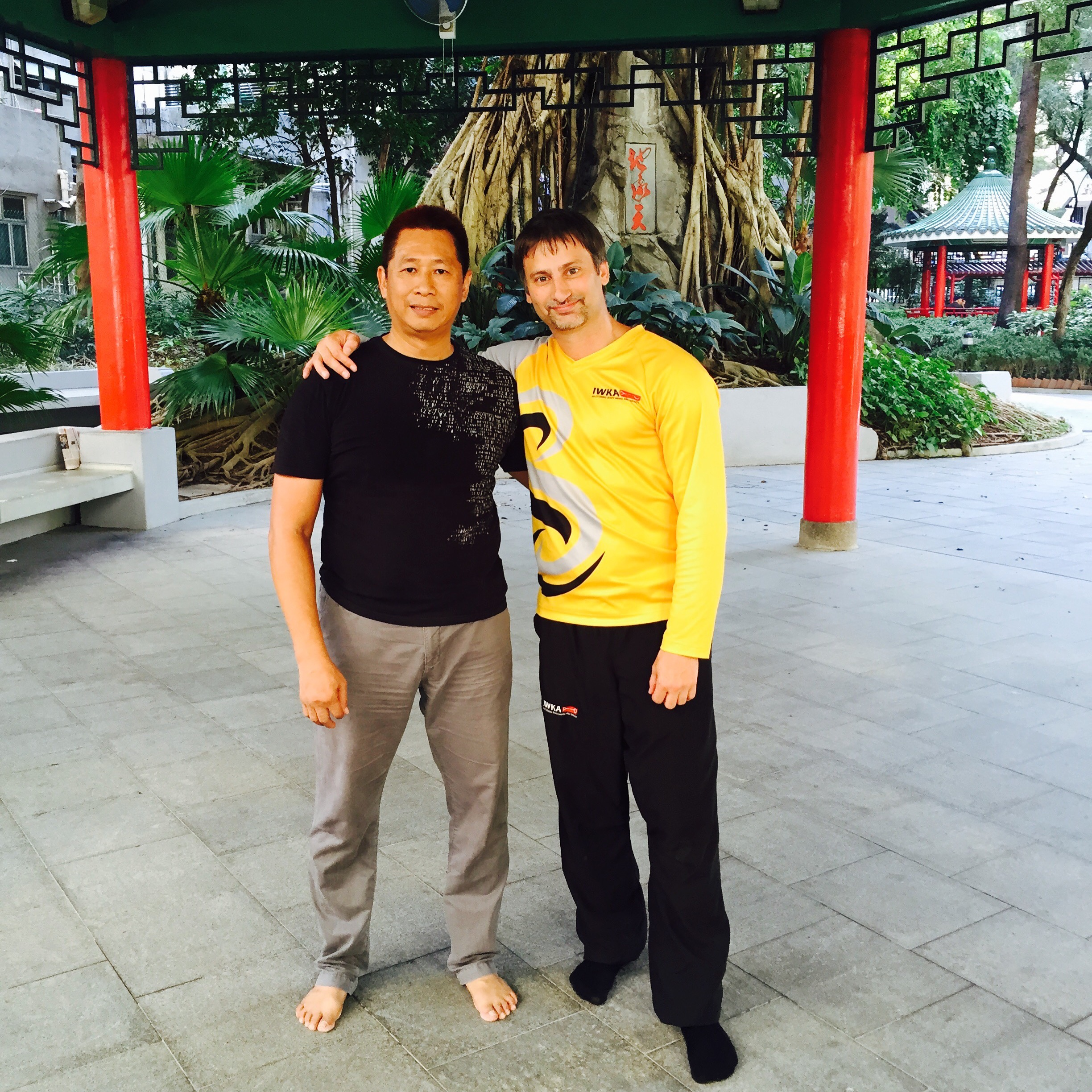 After a training session with Sifu Sunny So