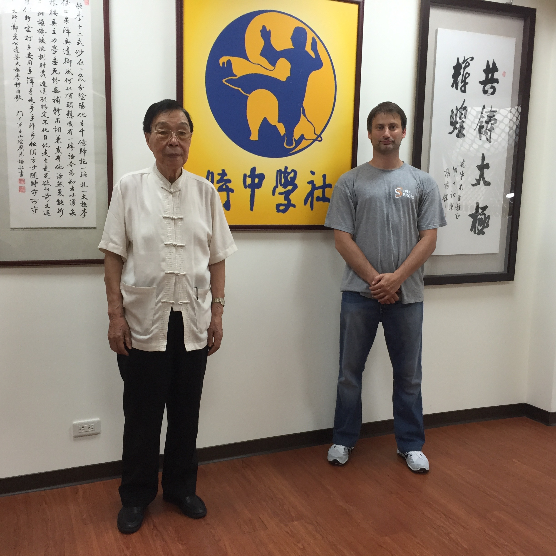 With the last living student of the late Sifu Cheng Man Ching Sifu Yee-Chung Hsu at Cheng Man Ching's house in Taipei Taiwan