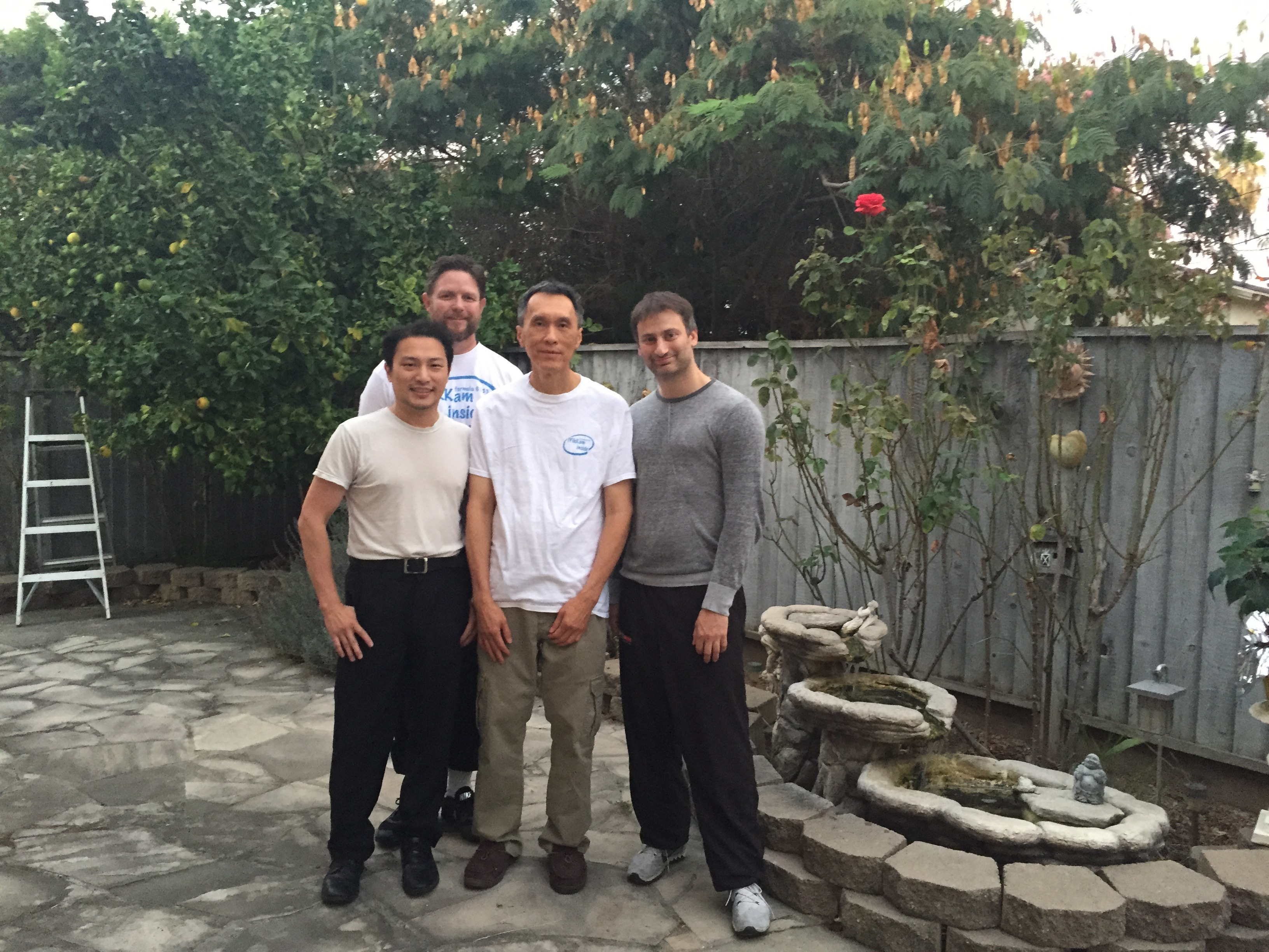 With some of the CSL Wing Chun family visiting Hendrik Santo