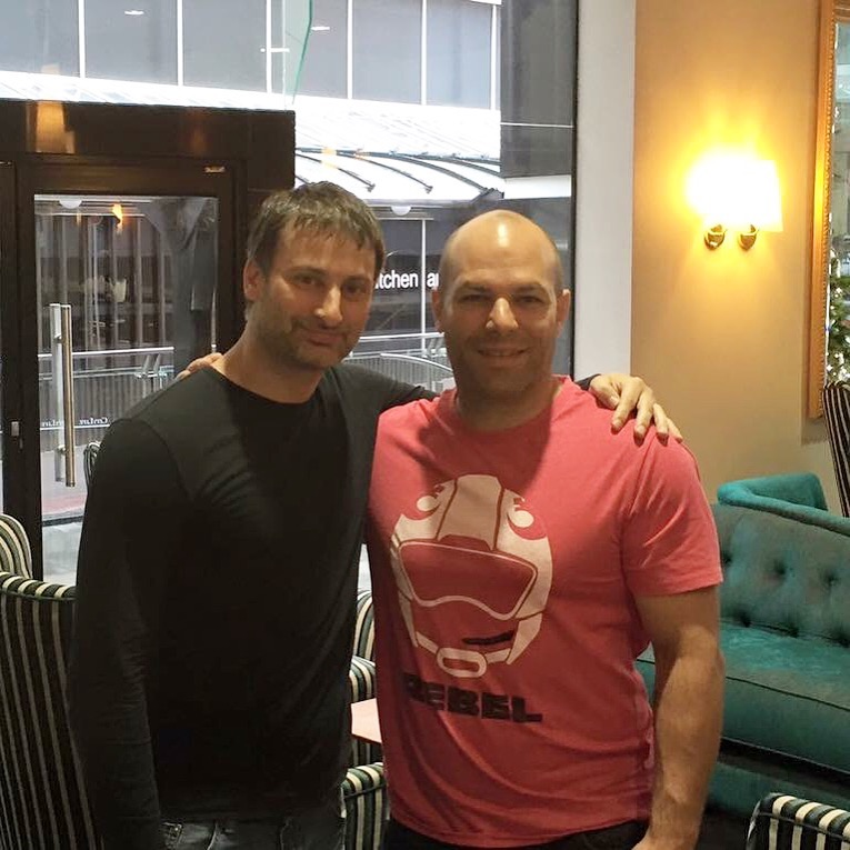 With My friend Sifu Alan Orr in New Zealand
