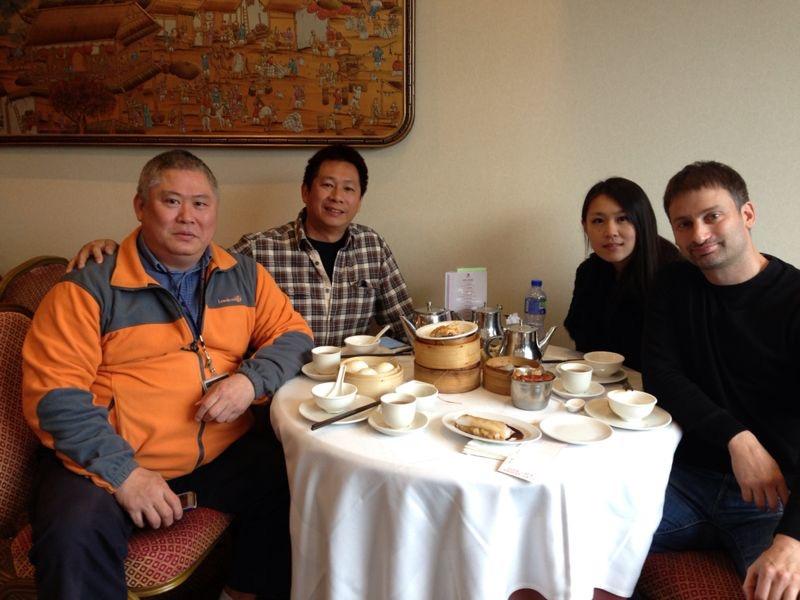 with Sifu Sunny So and Sifu Wayne Yung of Snake Crane Wing Chun